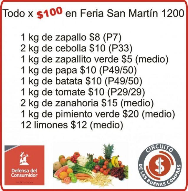 Qué se puede comprar con 100 pesos en la feria de avenida San Martín