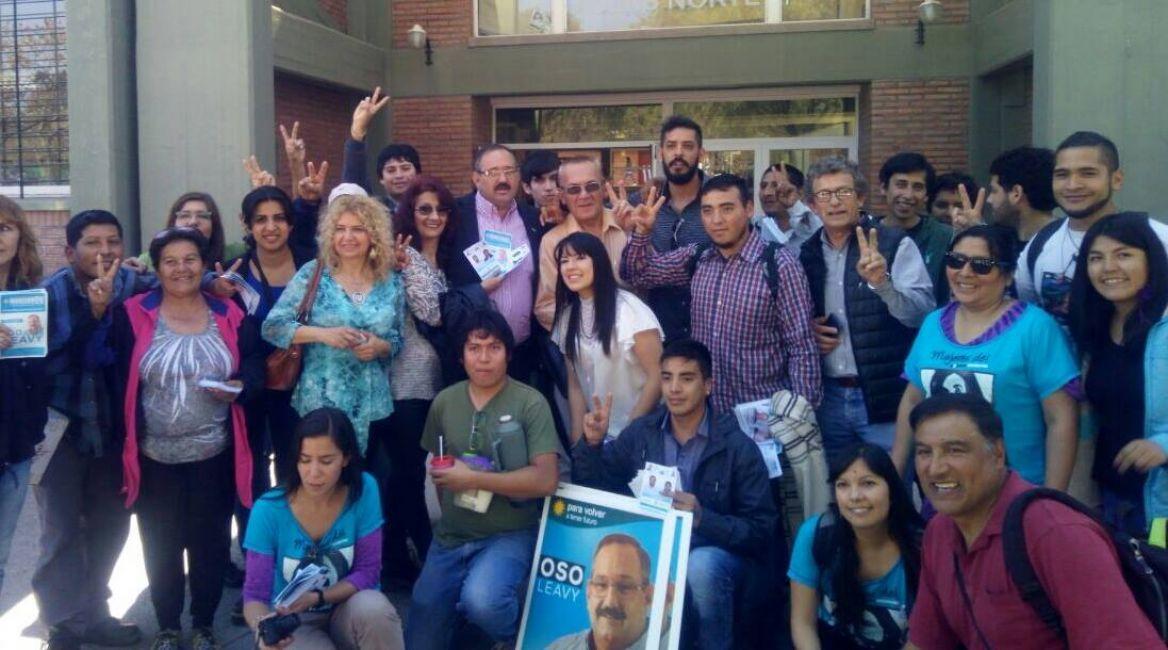 Sergio El Oso Leavy cerró su campaña politica en la Universidad Nacional