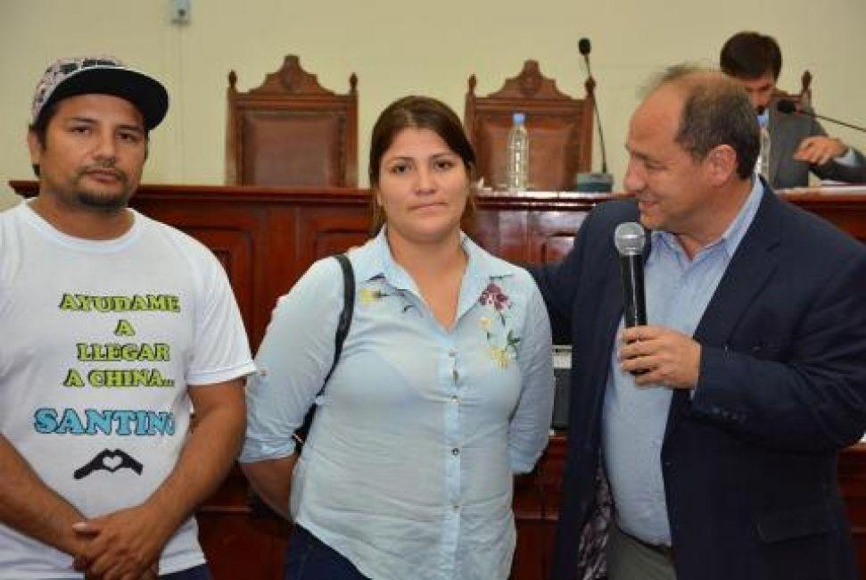 Concejales participaron de la colecta un Milagro para Santino