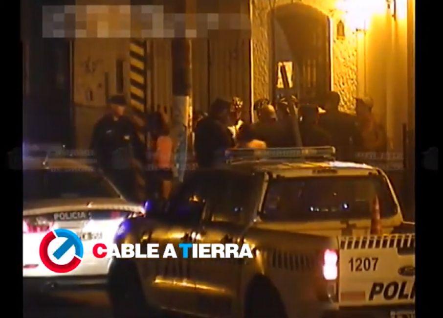 Desorden en la noche de Salta: mirá lo que captaron las cámaras de seguridad