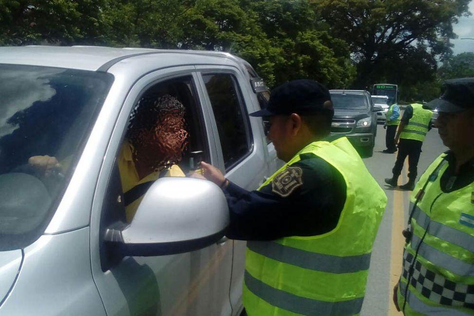 Seguridad Vial detectó 119 conductores con alcohol en sangre