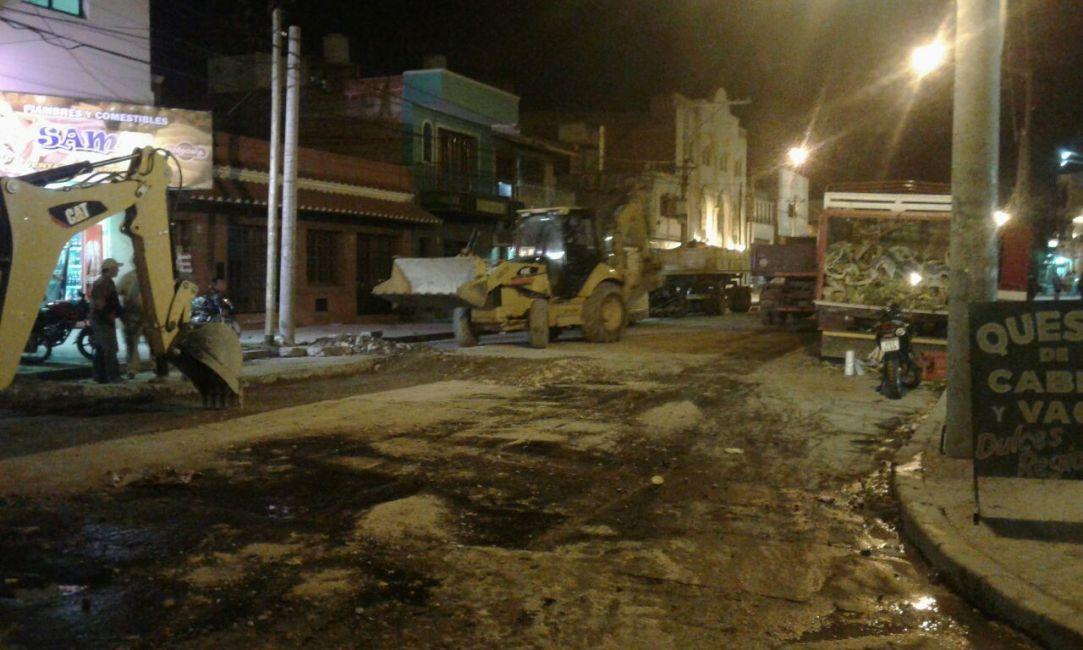 Continúan los trabajos de la Municipalidad sobre la avenida San Martín