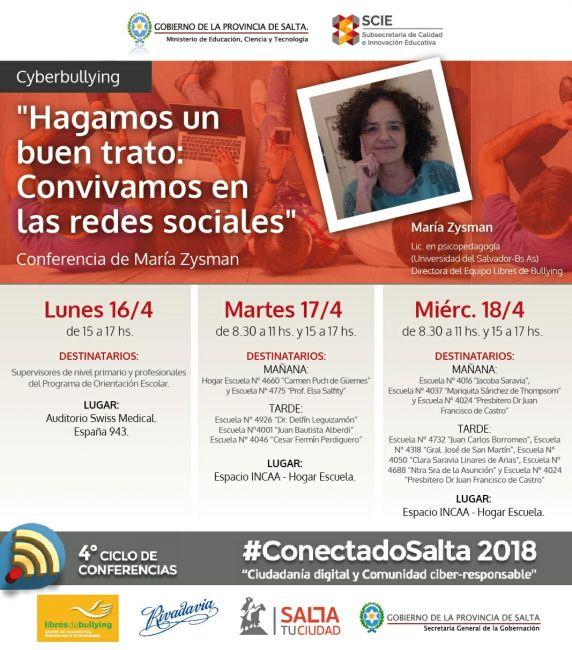 No te lo podes perder: continuan las conferencias de #ConectadoSalta 2018