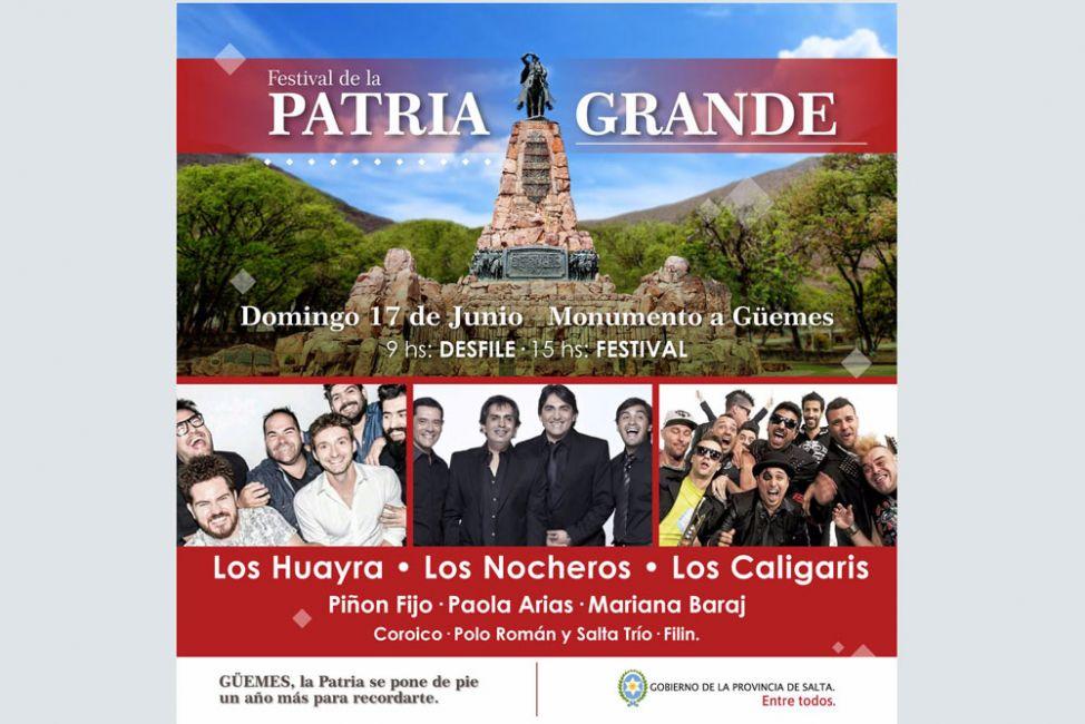 El próximo domingo se realiza una nueva edición del festival de la Patria Grande