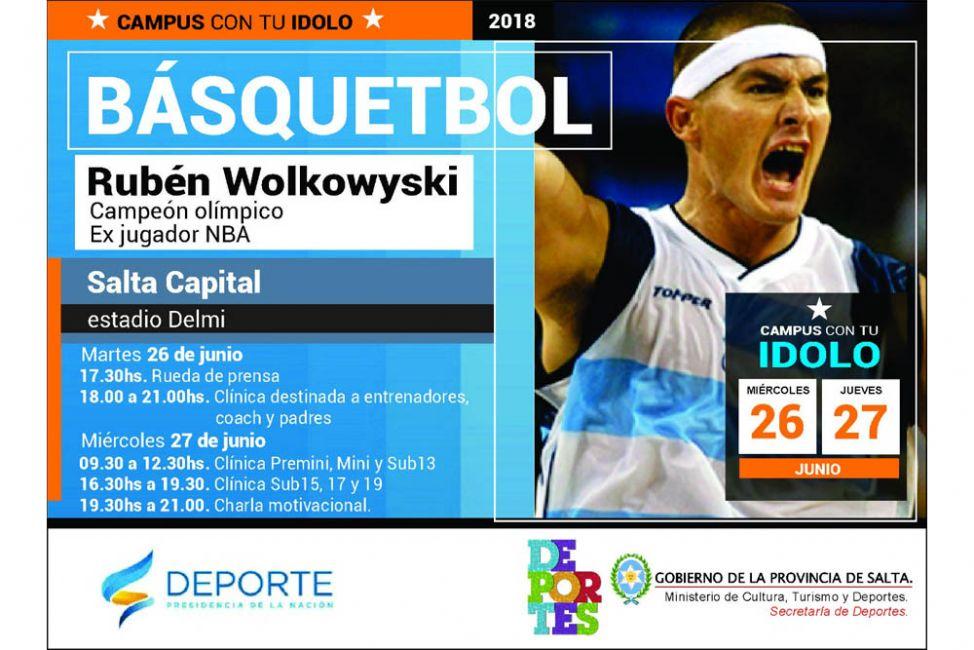Rubén Wolkowyski brindará una clínica de básquetbol en Salta