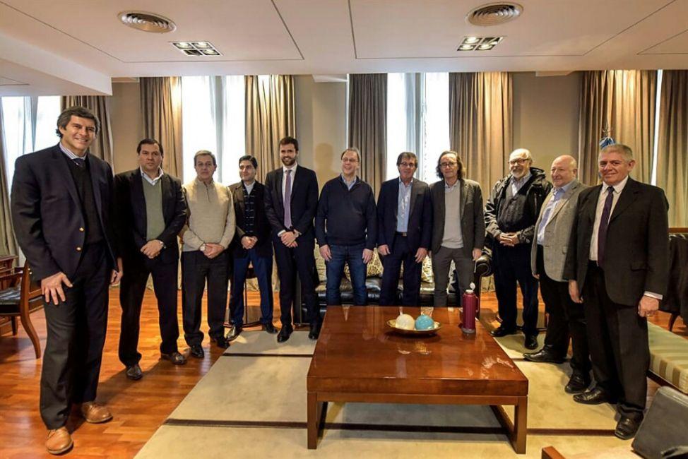Fernando Yarade y Estrada en la reunión de ministros de economía