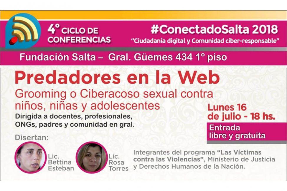 #ConectadoSalta: charlas de concientización sobre el grooming o ciberacoso