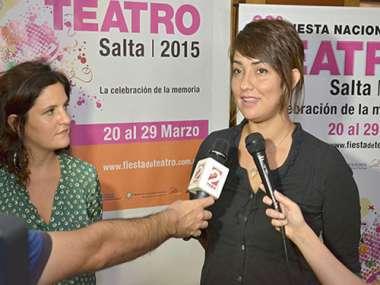 Presentaron la Fiesta Nacional del Teatro en Salta.