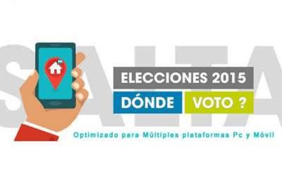 Los salteños pueden consultar su lugar de votación a través de la Web.