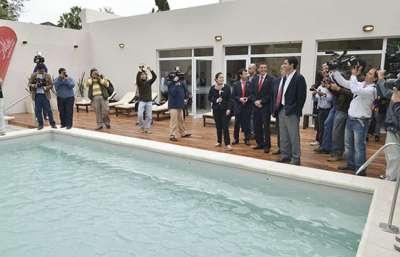 Se inauguró la primera etapa de las obras de refacción del hotel Termas de Rosario de la Frontera.