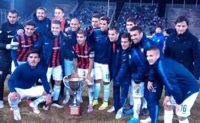 """San Lorenzo venció a Juventud y se quedó con la Copa """"Güemes""""."""