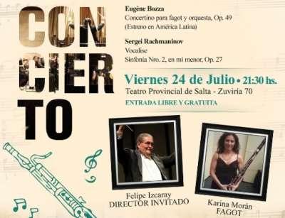 Felipe Izcaray dirigirá el próximo concierto de la Sinfónica.