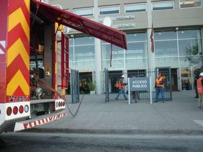 Se realizó un simulacro de incendio en la Ciudad Judicial.