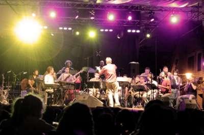 """La """"Salta Jazz Big Band"""" en acción."""