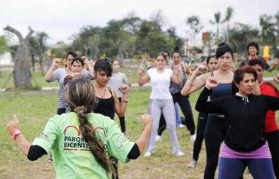 Continúan las actividades en el Parque del Bicentenario.