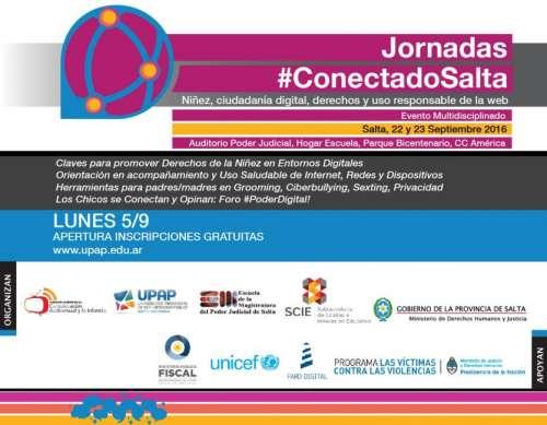 Imperdible: se realizarán las Jornadas #CONECTADOSalta