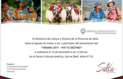 Hoy lanzan el Calendario de Verano 2017 en Salta