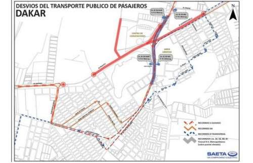 Desvíos de recorridos por el paso del DAKAR en Salta