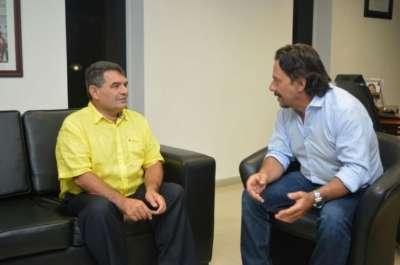 Sáenz se reunió con el diputado nacional Olmedo