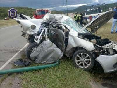 Dos automóviles colisionan en el acceso a Salta sobre ruta 9