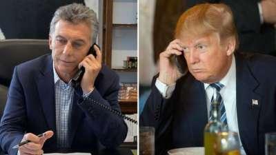 Trump vía teléfono, invitó a Macri a los Estados Unidos