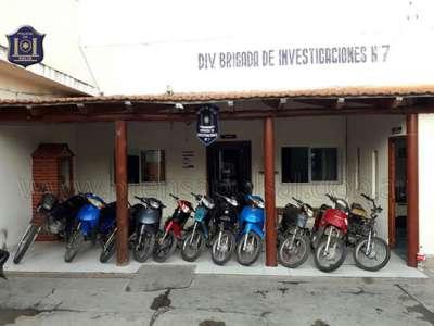 Recuperaron una importante cantidad de motos robadas