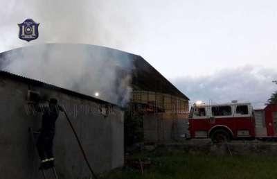 Bomberos de la policía sofocó un incendio en Cerrillos