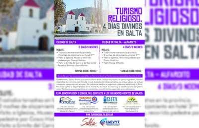 """Presentarán hoy el programa de turismo religioso """"4 Días Divinos en Salta"""""""
