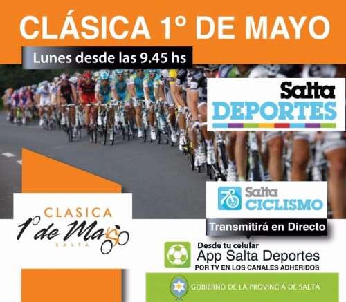 La Clásica 1 de Mayo se podrá ver en directo por la App Salta Deportes