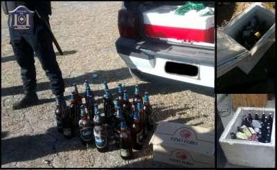 Secuestraron bebidas alcoholicas en las canchas del Sudeste