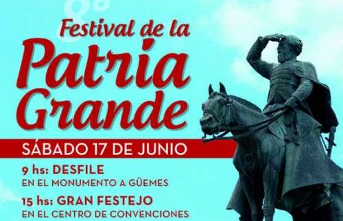 Se realiza el festival de la Patria Grande en homenaje a Güemes