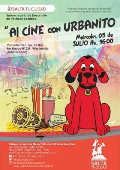"""En Vacaciones de Invierno, sumate """"Al Cine con Urbanito"""""""