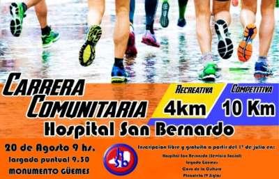 El Hospital San Bernardo organizó una competencia deportiva