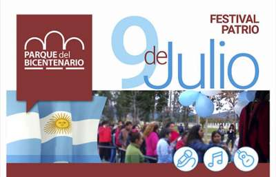Por el 9 de Julio, festival patrio en el Parque del Bicentenario