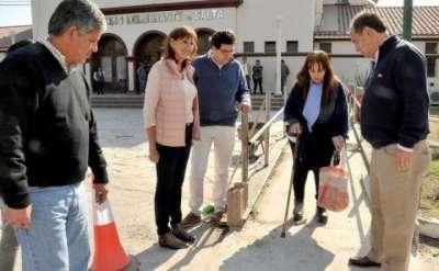 Recorrieron las obras de accesibilidad universal en el Concejo