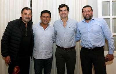 Ex jugadores de River Plate fueron recibidos por el Gobernador