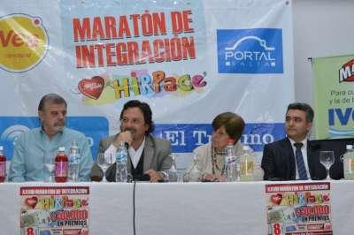 Sáenz participó del lanzamiento de la Maratón de HIRPACE