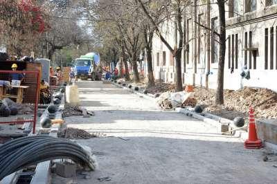 Avanzan las obras en calle Juramento: detalles del trabajo