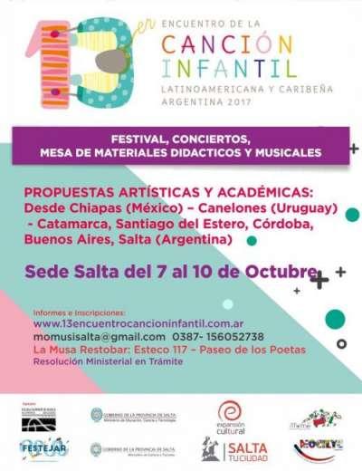 Salta será parte del encuentro de la canción infantil latinoamericana
