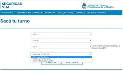 Desde el lunes se podrán obtener turnos online para la licencia de conducir