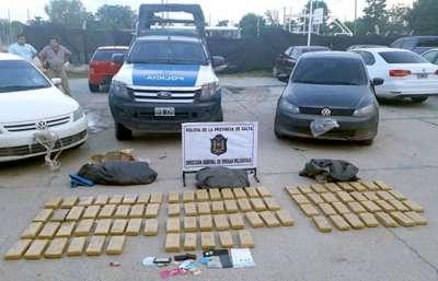 Desarticulan una banda de narcotraficantes con 77 kilos de marihuana