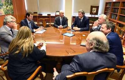 Ministros del Ejecutivo se reunieron con autoridades de la Corte de Justicia