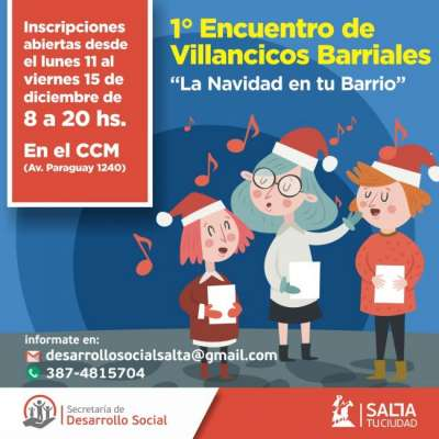 Imperdible: Inscriben para el 1º Encuentro de Villancicos Barriales