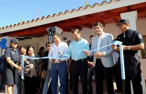 El vicegobernador Isa inauguró el nuevo edificio del Destacamento Angastaco