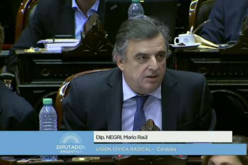 El presidente del interbloque Cambiemos no quiso hablar en el cierre de la sesión