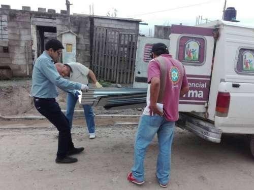Asistencia de la Municipalidad de Rosario de Lerma a las familias afectadas