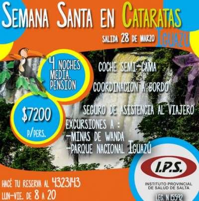 IPS Turismo Social lanzó la promoción: ¡Disfrutá Semana Santa en Cataratas!
