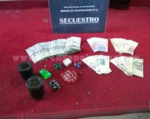 Timba clandestina: tres imputados y mas de 65 mil pesos secuestrados
