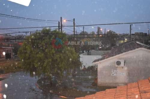 Salta amaneció con lluvia: mirá como precipita en la zona sur de la ciudad