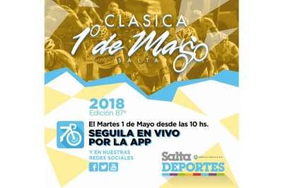 La Clásica 1º de Mayo se podrá seguir en directo por la aplicación Salta Deportes